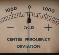 GE FM monitor meter