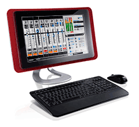 SoftSurface allows remote control of the Element console via PC or a Windows touchscreen tablet.