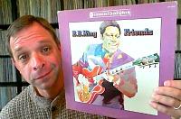 Telos' Clark Novak shows off a Quad B.B. King LP from 1974.