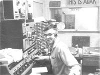 AFRS operator at ADAK Station, Aleutian Islands, 1968