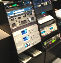 Linear Acoustic gear in the racks at NBC
