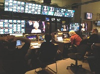 NBC Olympics Broadcast Center during opening ceremonies