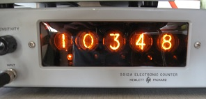 HP 5512A digital display