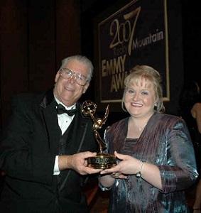 Ed Sharpe with Emmy Award