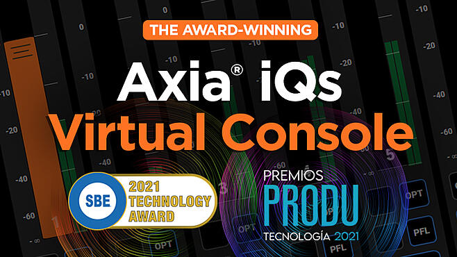 Axia iQs Soft Mixing Console Awards