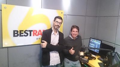 BestRadio Brasil Program Director David Jill with our Juan Punyed