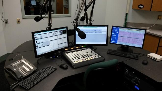 WNBI Studio with Axia Radius console