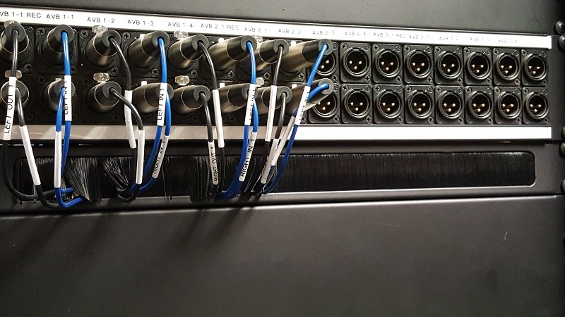 Completed Ethernet cable installation