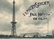 Station ID slide for the Berlin Television Station (1935-1944)