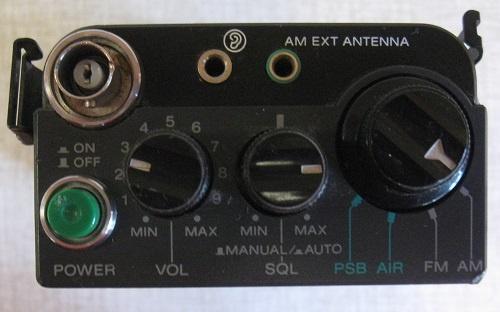 Sony Air-7 controls