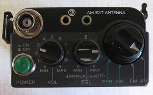Sony Air-7 controls