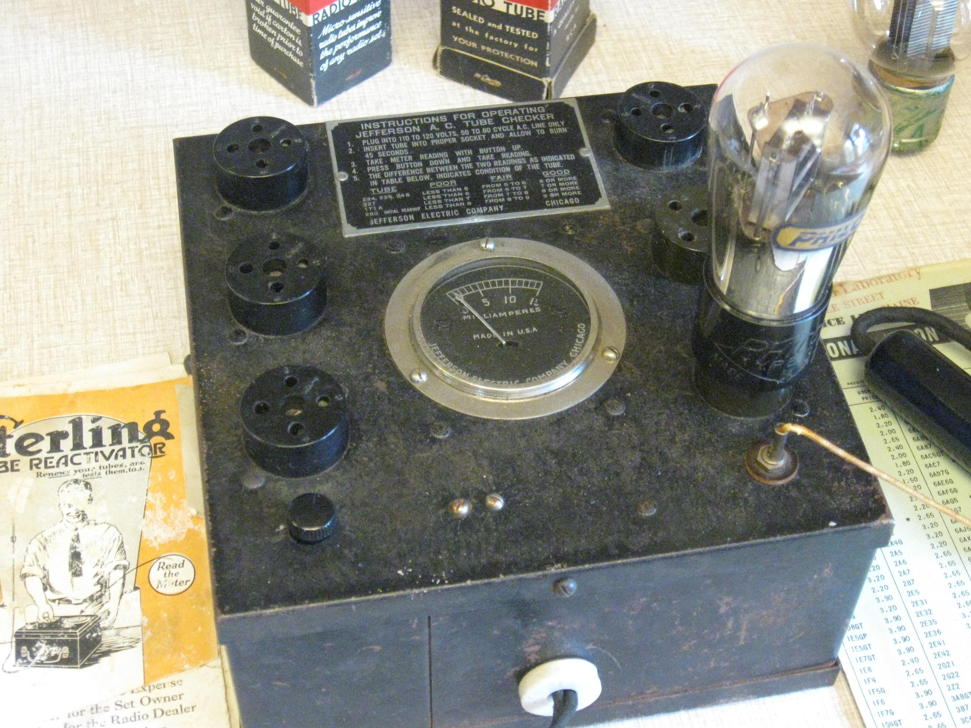Jefferson AC tube checker