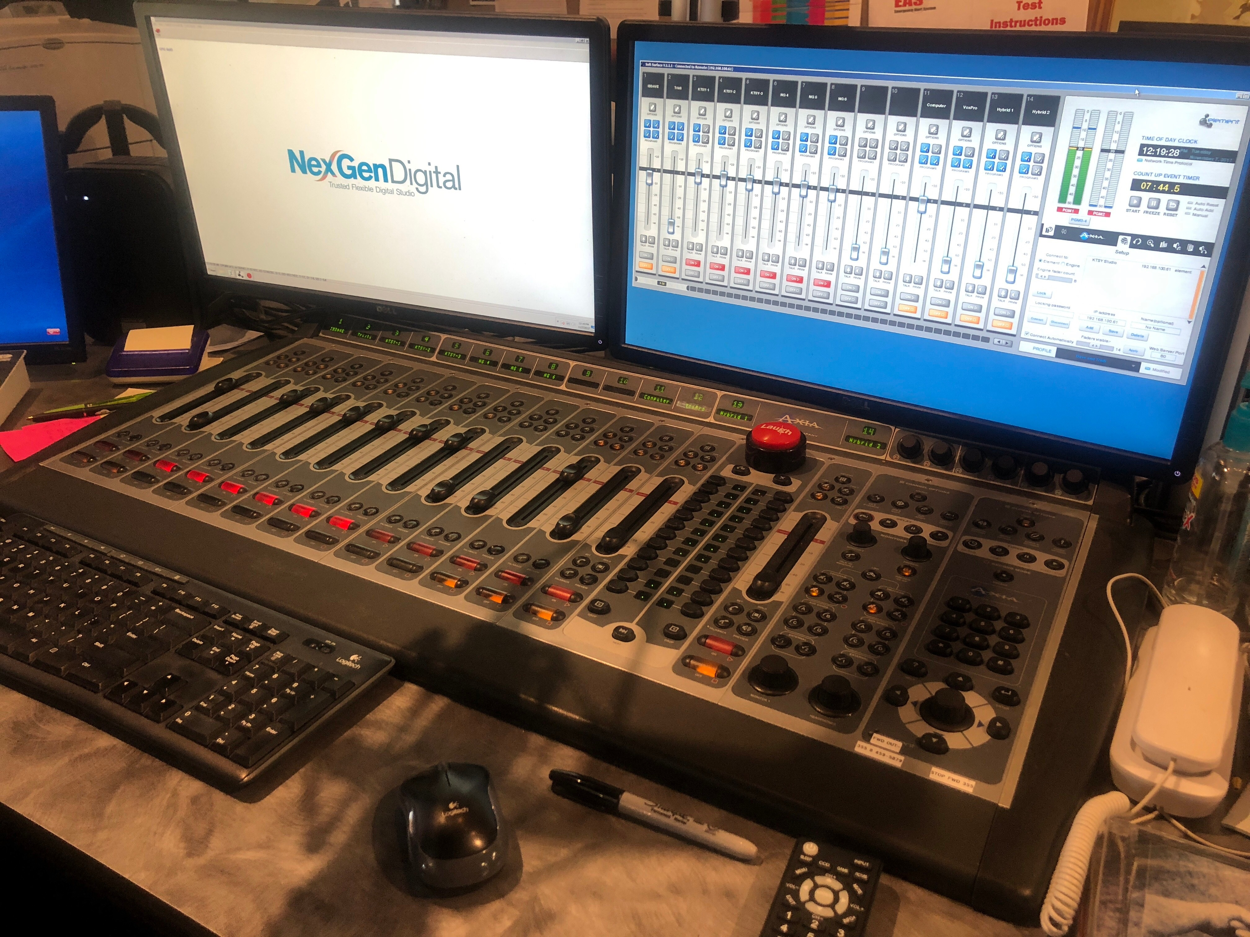Element console at Barefoot Media Ministries