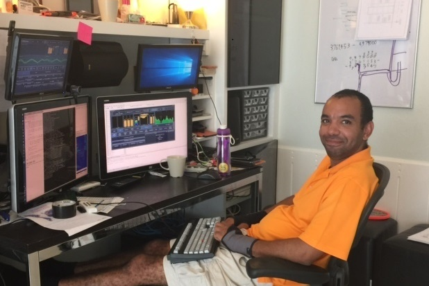 Leif in his home lab in Hua Hin, Thailand