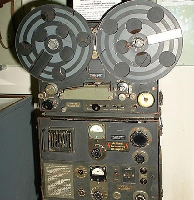 Magnetophon tape recorder discovered at a German-controlled radio station in 1945