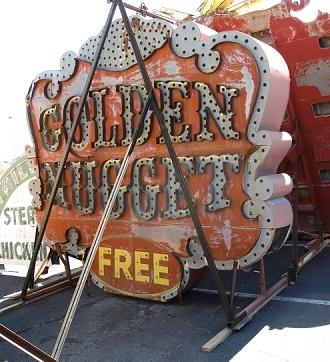 Legendary neon sign from the Golden Nugget