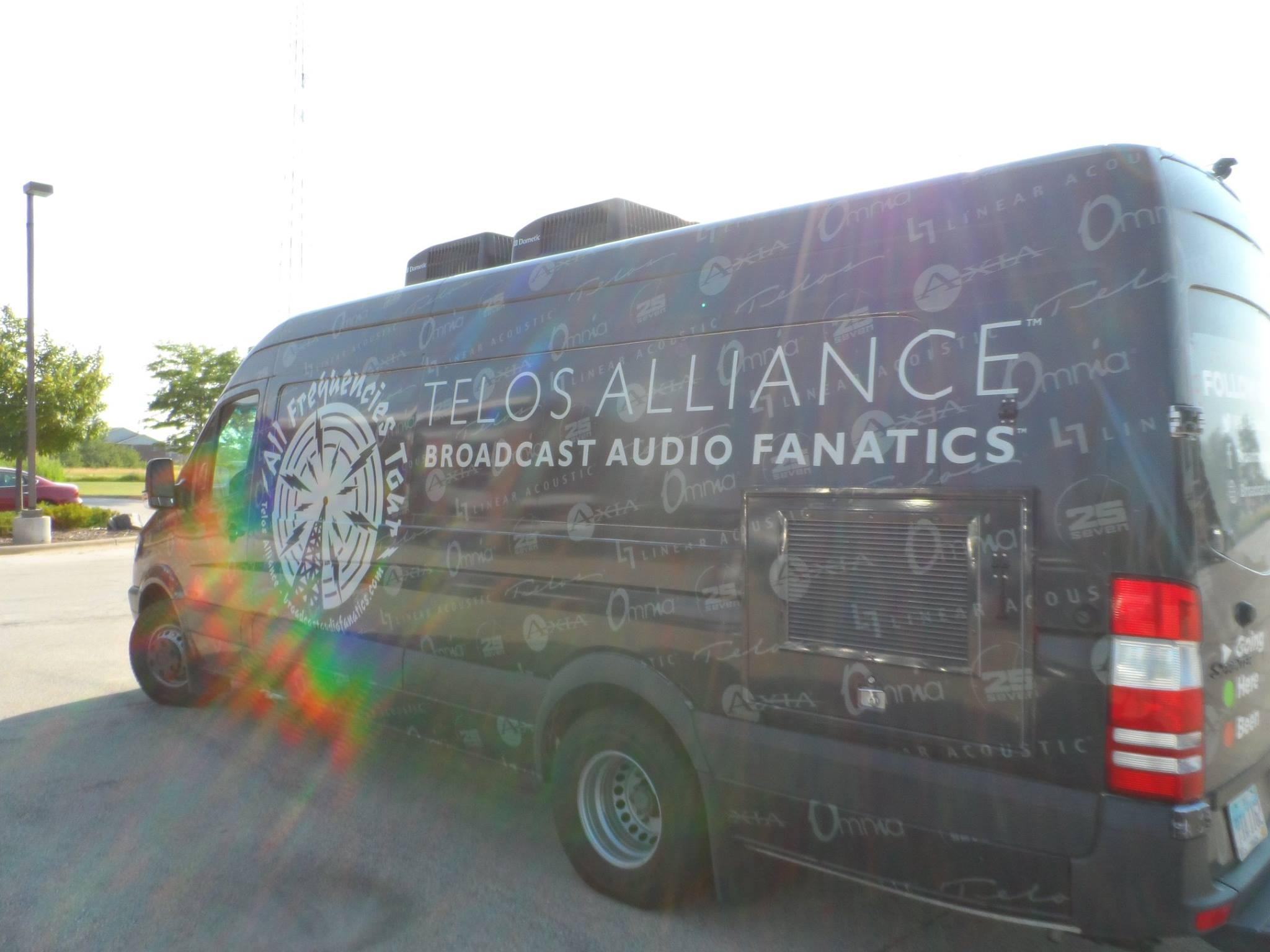It's nothing but sunshine and rainbows for Dave and Telos Alliance van on the Omnia Tour!
