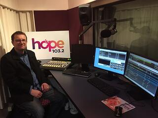 Stephen Wilkinson with Hope Media's Axia Radius console