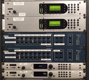 Telos Zephyrs & Z/IP ONEs in the rack