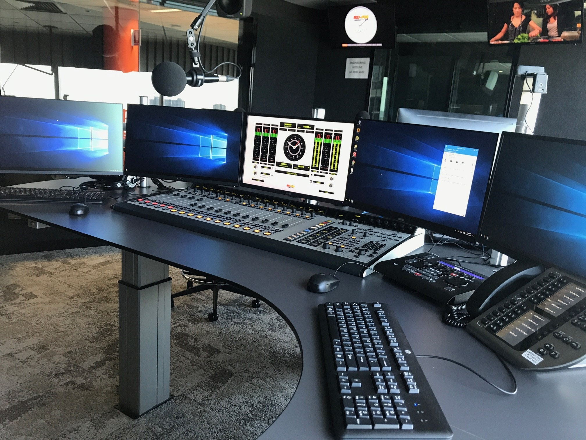 Axia Fusion console at KOFM 102.9