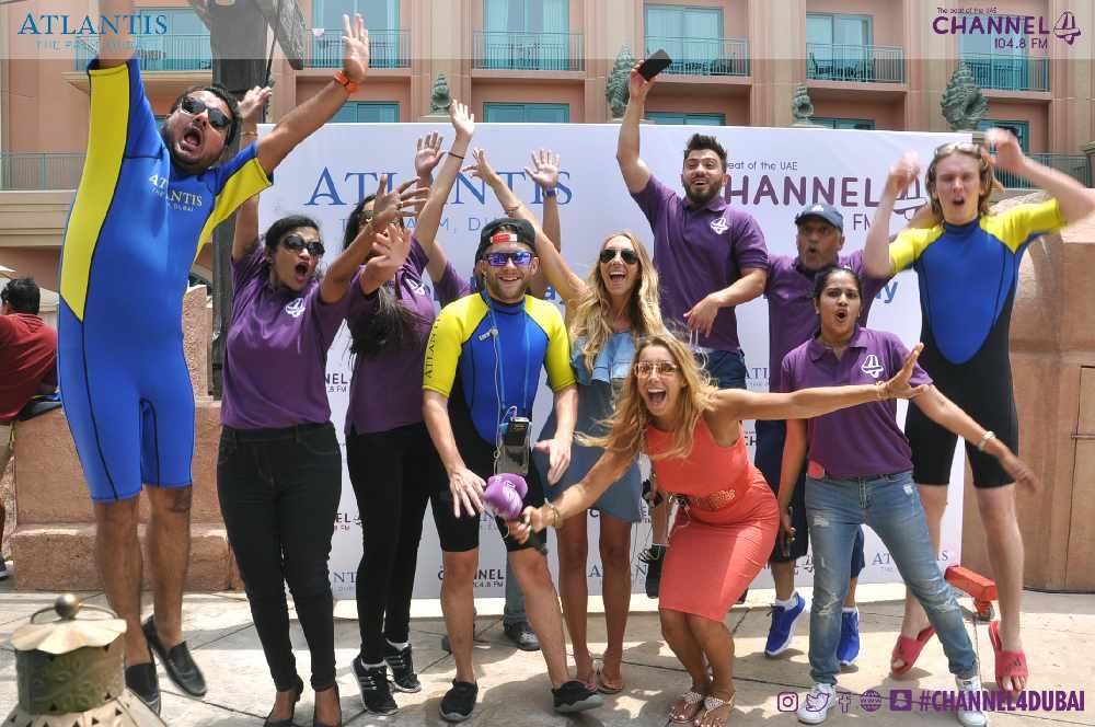 The Channel 4 crew celebrates