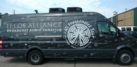 Broadcast Audio Fanatics van
