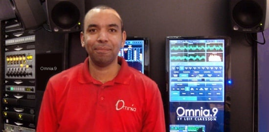 Leif at Omnia.9 exhibit at IBC 2013