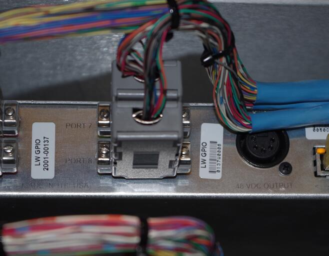 Back panel of Axia GPIO xNode, serial number 0006. Still going strong!