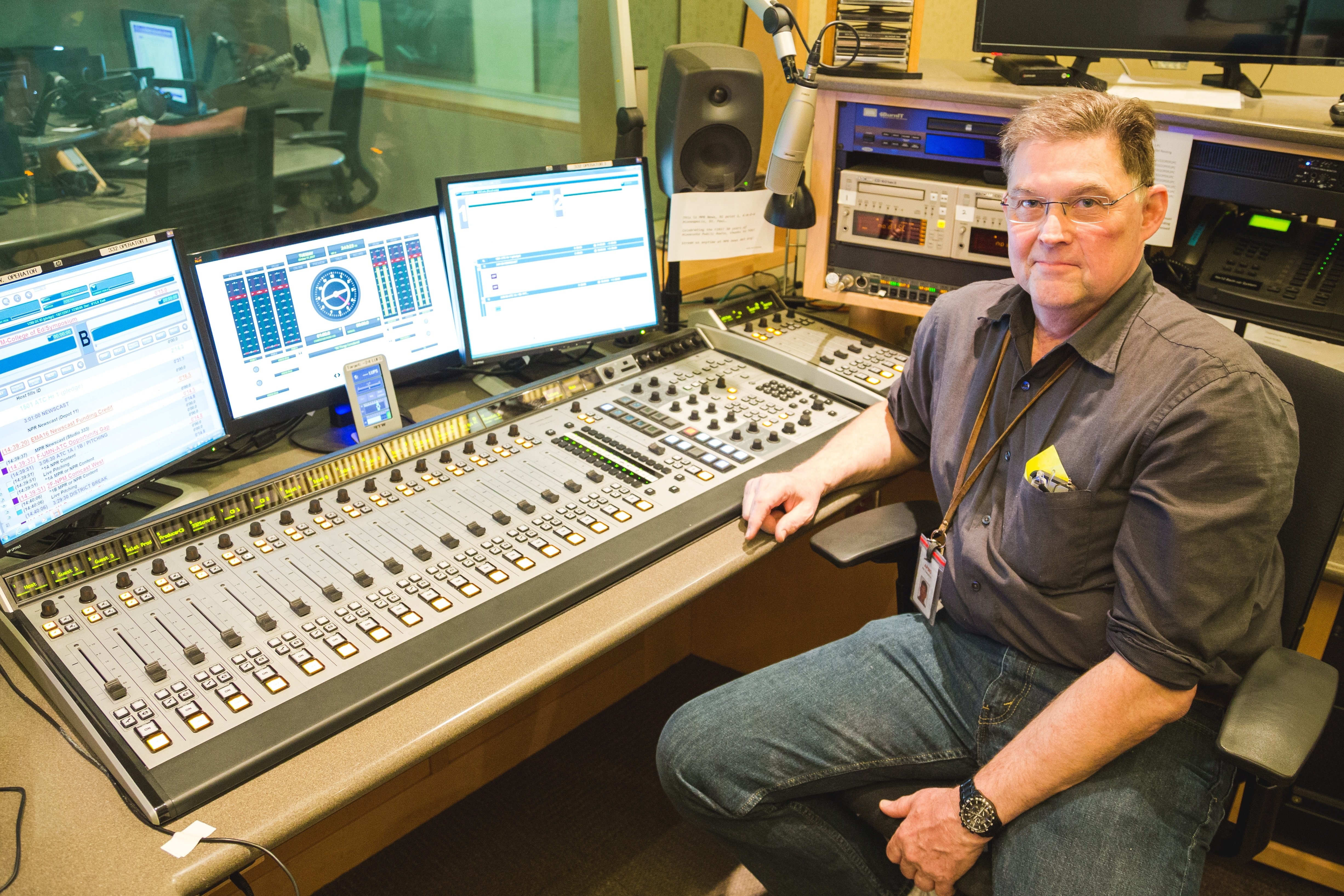 Bill with another Axia Fusion in one of the most-used studios at MPR