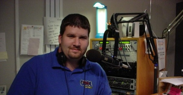 Joe Vilkie in the COOL 101.7 studio