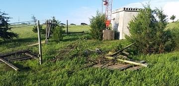 Damage at Transmitter Site