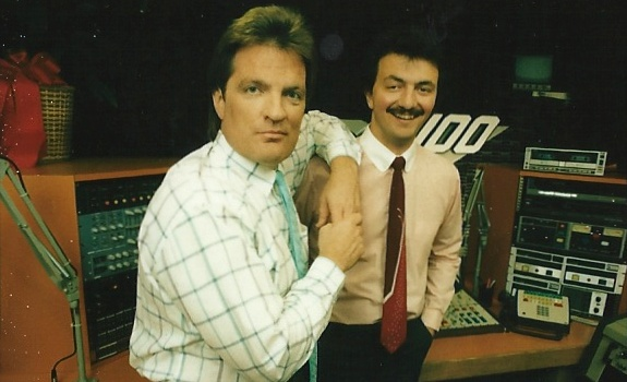 Scott Shannon with Frank at Z100 New York in the '80s