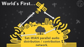 World's First SAT-WAN audio distribution network