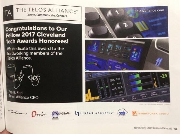 Telos Alliance featured in Awards Luncheon program