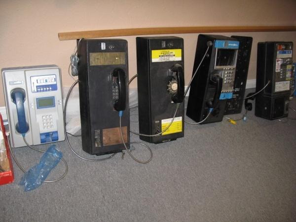 Vintage pay phones