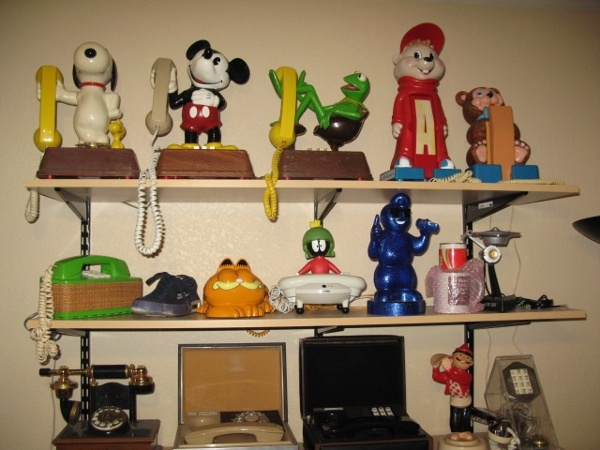 Collection of novelty phones