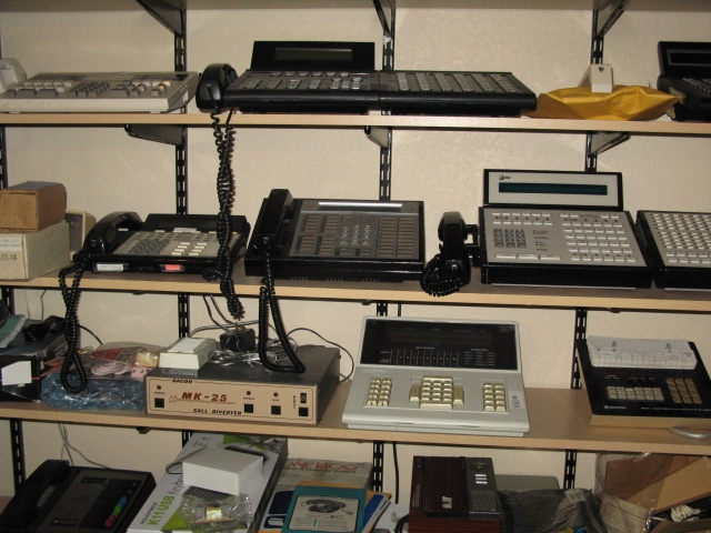 Vintage business phone systems for multiple lines