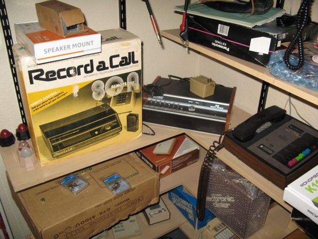 Vintage answering machines