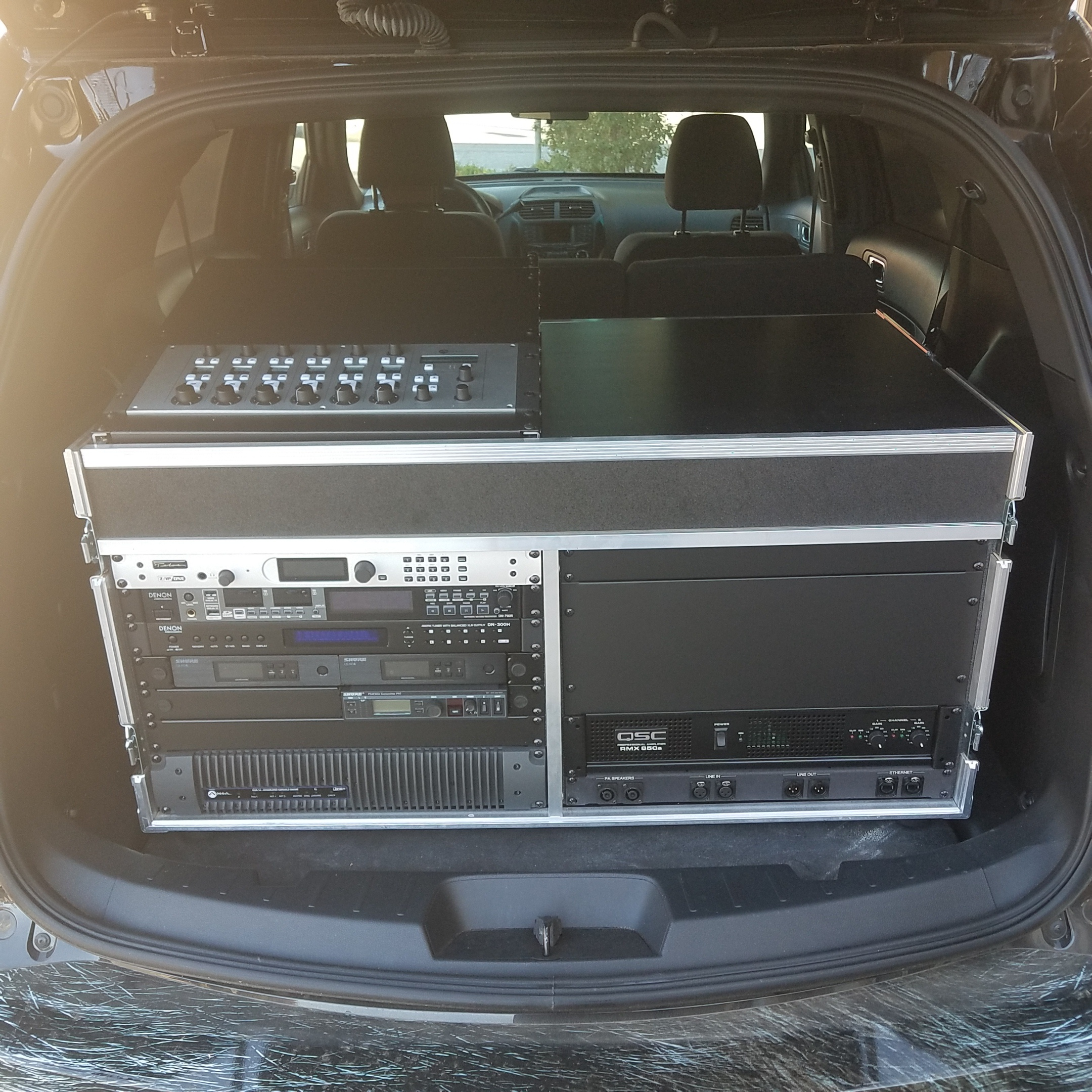 Livewire remote broadcast unit boxed up and ready to go