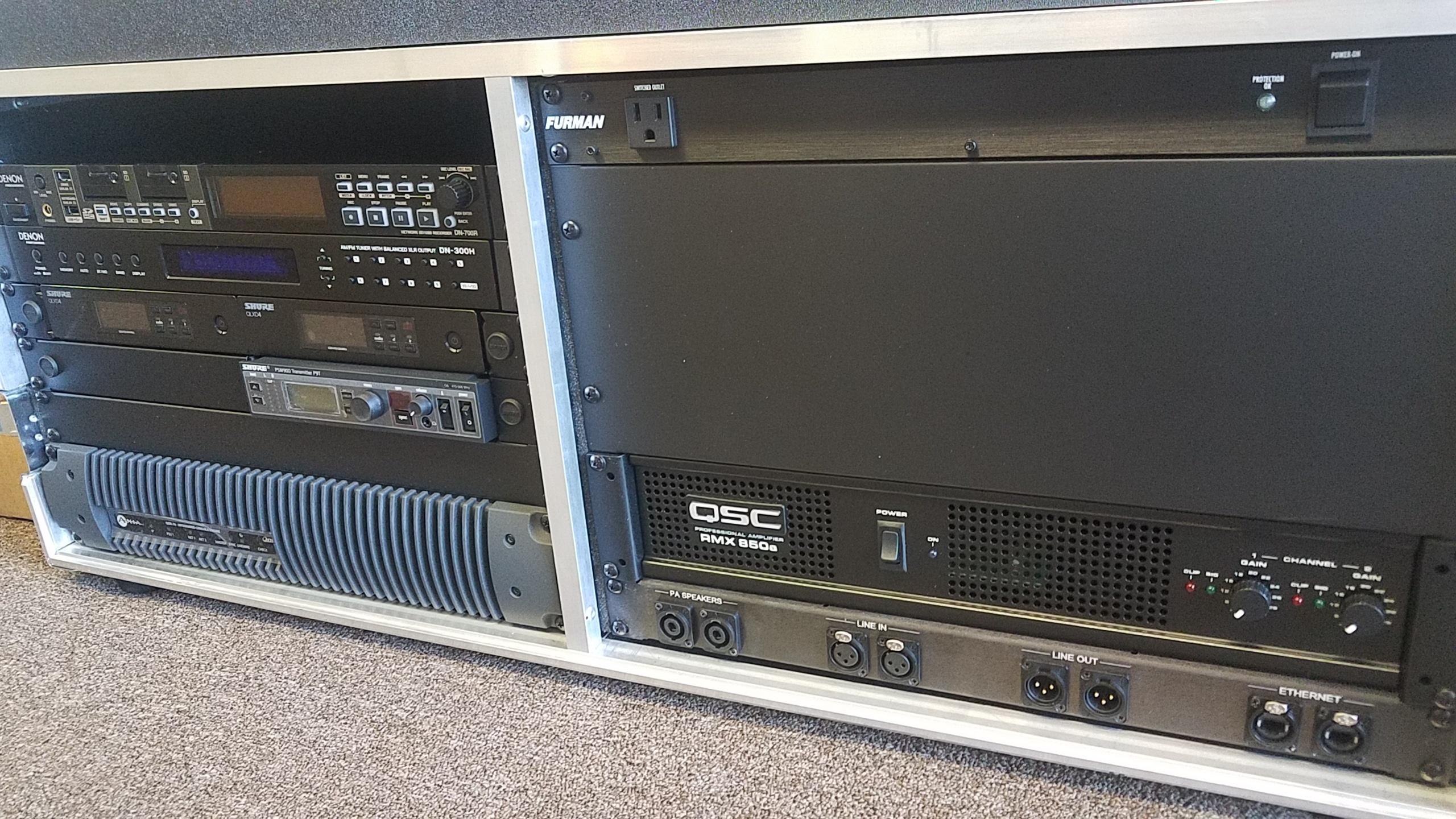 Closeup of remote unit