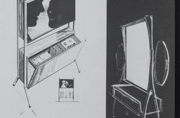 John Vassos' amazingly visionary 1961 designs for flat screen television sets of the future