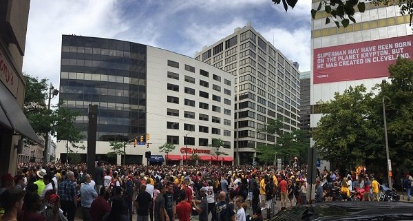Crowd on Rockwell