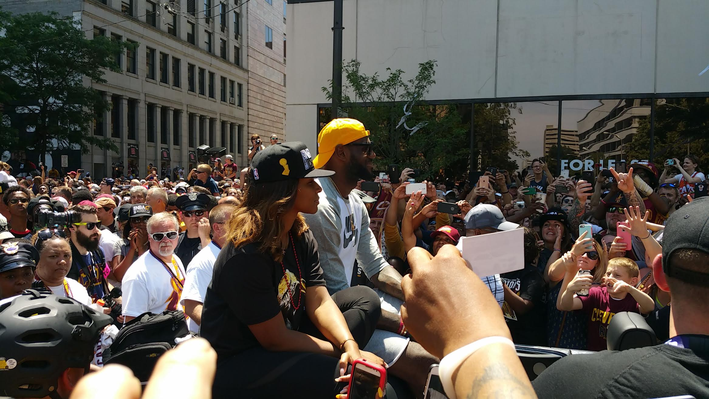 LeBron James receives a hero's welcome