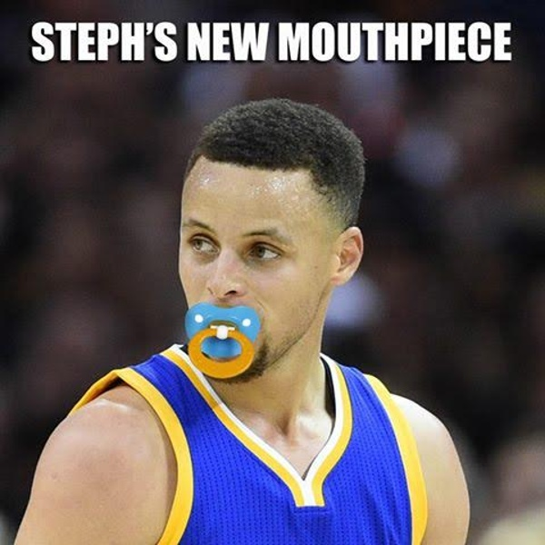 Steph Curry's new mouthpiece