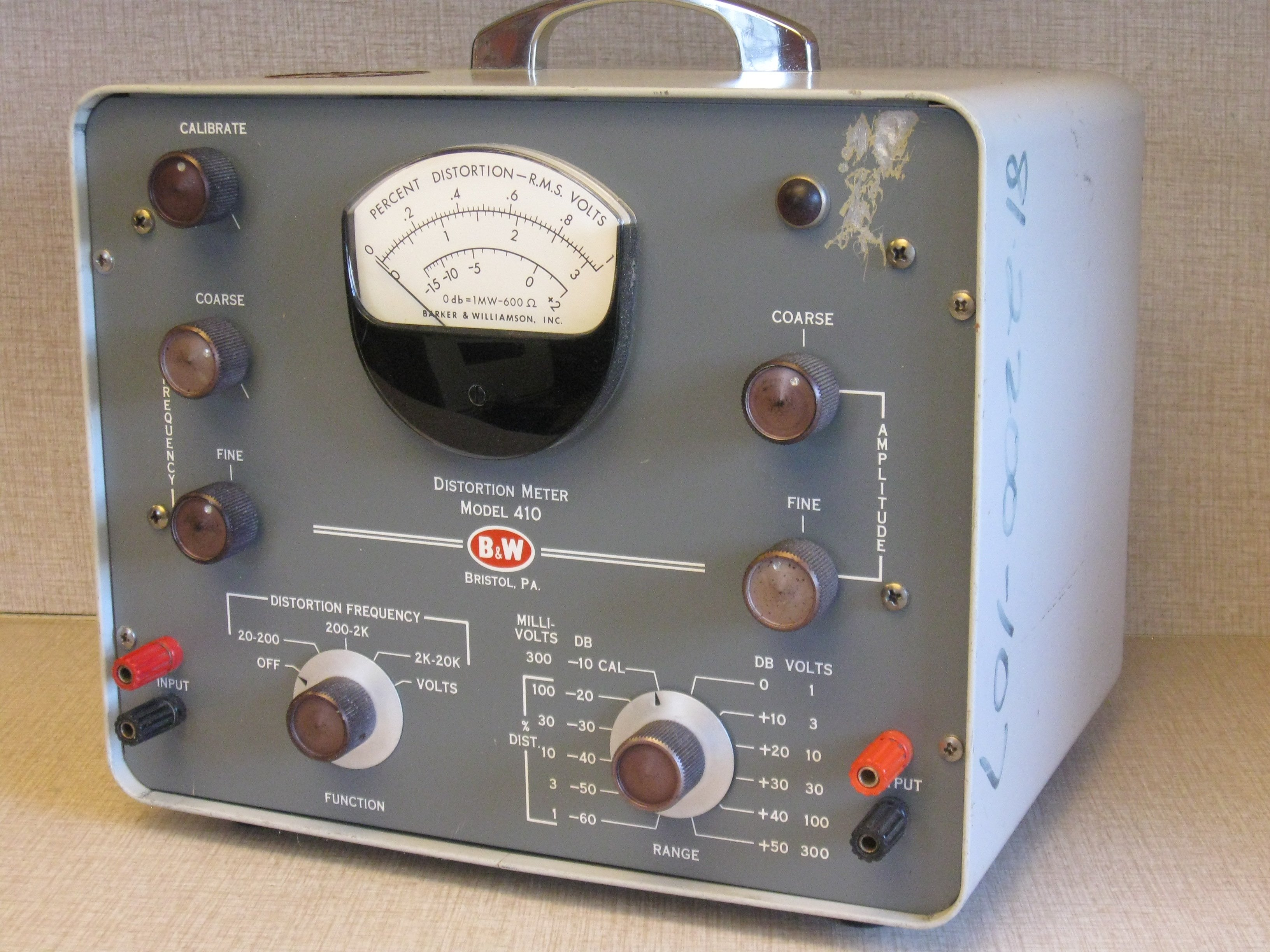 Found in the Attic: B&W 410 Distortion and Voltmeter