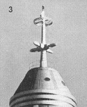 1938 - The third mast stood 35-feet high with ring-shaped di-pole with video turnstile below.