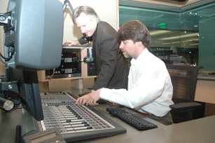 An Element console on the air at MPR, 2006