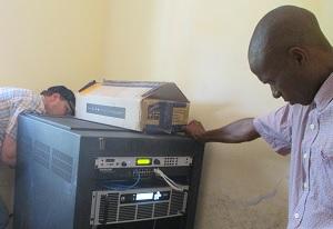 Ron & Arnold Kessi Ulinzi install a Z/IP ONE in Tanzania