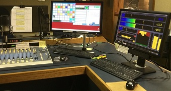 WBHM studio (Omnia.9 display on right)