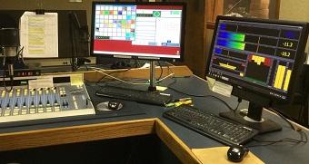 WBHM studio (Omnia.9 display on right)